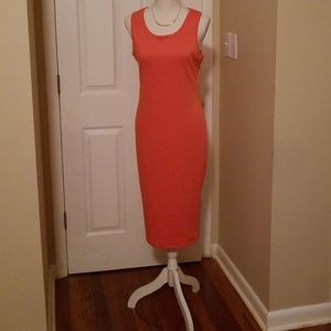 Dresses & Skirts - Peach Midi Bodycon Dress